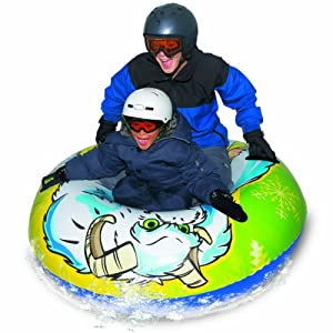 Buy Aqua Leisure Winter Inflatable Round Yeti Giant Snow Tube Sled for 2 ( Two ) Riders on Sledding Hill, Fast yet Safe,... by Aqua Leisure