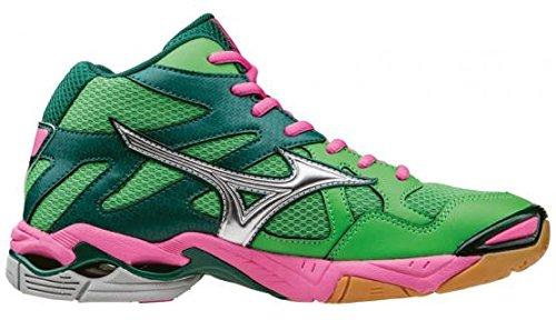 Mizuno Wave Bolt 4 Mid green/pink scarpa da pallavolo Indoor w (38.5)