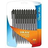 Paper Mate Inkjoy 100RT Retractable Ballpoint Pen, Medium, Black, Set of 20 (1879090)