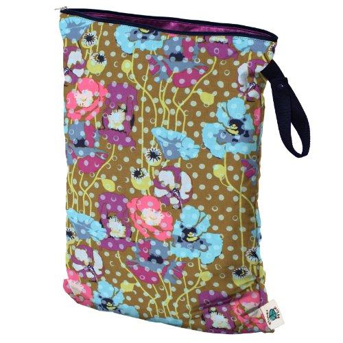 Planet Wise Wet Diaper Bag, Bronze Poppy, Large