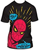Men's Marvel Comics Spider-man Hold It Big Print Subway T-shirt