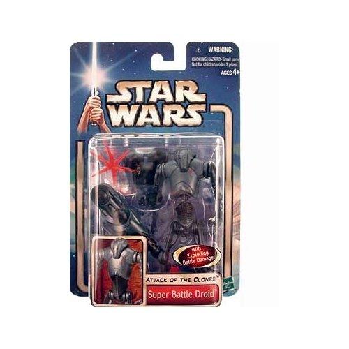 Star Wars: Episode 2 Super Battle Droid with Backdrop Action Figure