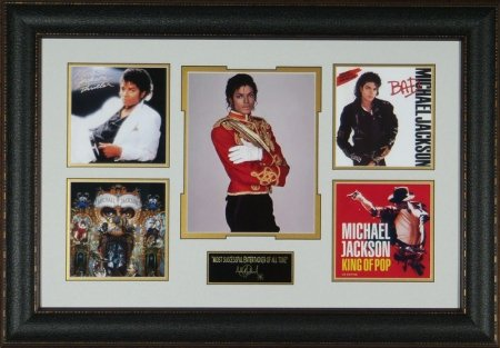 Michael Jackson - Engraved Signature Series Display