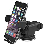 iOttie Easy One Touch 3 Car Mount Holder for iPhone 6s Plus Samsung Galaxy S6 Edge Plus Note 5 Google Nexus -Retail Packaging- Black