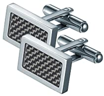 Visol Michal Carbon Fiber Stainless Steel Cufflinks