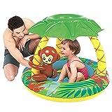 Jilong Monkey Baby Pool - Piscina infantil con suelo hinchable y parasol, para ni�os de entre 1 y 3 a�os, � 102 x 80 cm