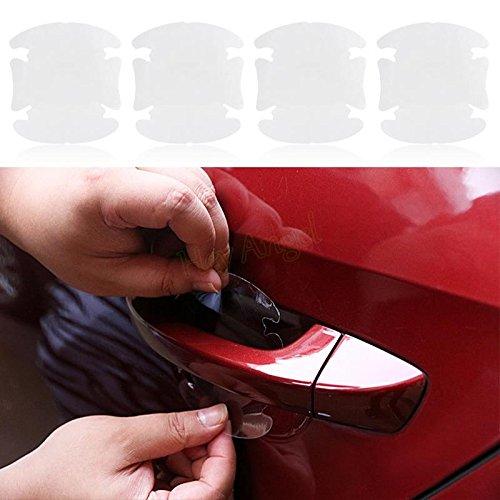 SKS distribuzione® 4pcs Universale Pellicola di protezione invisibile adesivo auto adesivi per auto Maniglia per porta graffi resistente Cover