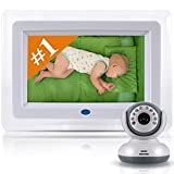 Best Video Baby Monitor - Amazing 7 Color LCD Screen - Designer Style, Feature Rich Premium High End Digital Camera with Long Range Wireless / WiFi Signal - Night Vision - Two-Way Talk Audio & More