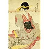 Akahime of The Akatsutaya House, by Kitagawa Utamaro (V&A Custom Print)