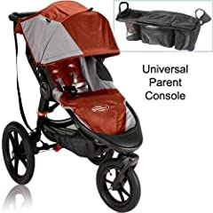 Baby Jogger Summit X3 Single Jogging Stroller with Parent Console - Orange Gray by BaJogger