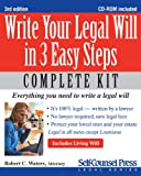 Write Your Legal Will in 3 Easy Steps: Everything You Need to Write a Legal Will (Self-Counsel Legal)