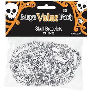Halloween Skull Bead Bracelet Favors - 24/pkg. by AMSCAN