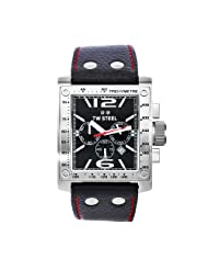 TW Steel Men's TW116 Goliath Black Leather Chronograph Dial Watch