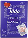 Tilda Boil in the Bag Pure Basmati Rice 500 g (Pack of 4)