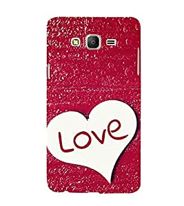 love with Red Paint Background 3D Hard Polycarbonate Designer Back Case Cover for Samsung Galaxy On7 :: Samsung Galaxy On 7 G600FY