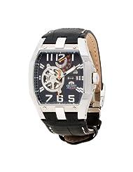 Orient Men's CFTAB005B Power Reserve Semi-Skeleton Black Automatic Watch