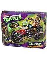 PlayMates 14094052 Mutant Ninja Turtle Motorcycle Rippin Rider Tartarughe Ninja 11 Cm