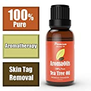 Tea Tree Oil - 100% Pure Therapeutic Grade Melaleuca Oil - Best for Skin Tags Removal, Nail Fungus Treatment, Aromatherapy, Scented Massage Oil, Acne, Hair Conditioner, Facial Toner, Moisturizer - Antiseptic - Lifetime Money-Back Guarantee