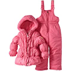Pink Platinum Girls 2-6X Foil Dot Snowsuit Set