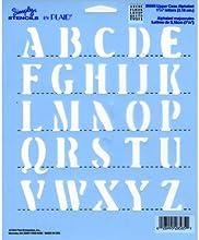 Plaid 28585 Simply Stencil 1-14-Inch Alphabet Upper Case