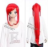 W de 261Gurren Lagann Yoko littner Cosplay Rojo Red 95cm peluca Wig Anime kawaii de Story
