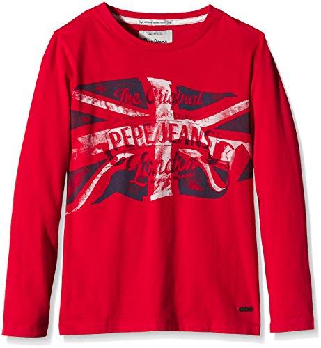 Pepe Jeans Jungen, T-Shirt, Thor, GR. 176 (Herstellergröße: 16), Rot (bright Red 260)