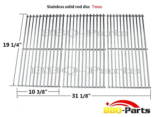 Hongso SCI1S3 Universal BBQ Stainless Steel Wire Cooking Grid Replacement for Select Gas Grill Models by Brinkmann, Charmglow, Costco, Jenn Air, Members, Nexgrill, Perfect Flame, Sams Club, Gas Grill and Others,Set of 3 (Jenn Air Grate compare prices)