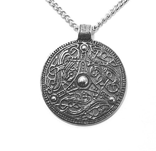 Viking Disc Pendant Necklace In Fine English Pewter (Gift Boxed)