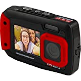 iON Cool-iCam Tough Waterproof Shockproof Digital Selfie Camera with Dual LCD Display - (Red)
