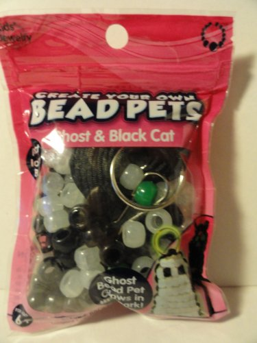 Create Your Own Bead Pets - Ghost & Black Cat