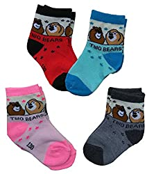 4 PAIRS BABY BOY/GIRL COTTON RICH SOCKS (FREE DELIVERY)