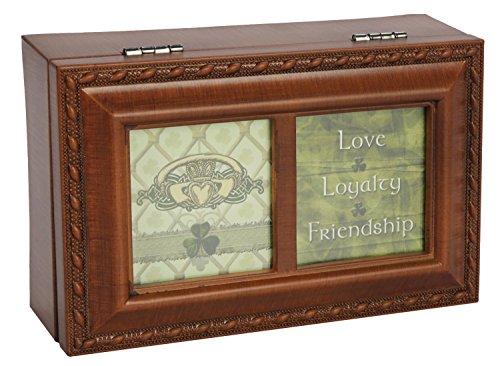 Irish Claddagh Love Loyalty Friendship Music Musical Jewelry Box Plays That's an Irish Lullaby
