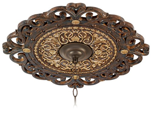 Metropolitan N5231-355 Ceiling Medallion from the Zaragoza Collection, Golden Bronze