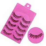 Lowpricenice 5 Pairs Fashion Natural Handmade Soft Long False Eyelashes Makeup Z 1