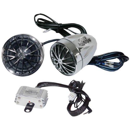 Pyle Plmca30 400-Watt Motorcycle/Atv/Snowmobile Mount Amp With Dual Handlebar Mount Weatherproof Speakers