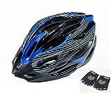 MAMiO カーボン調のラインが かっこいい 大人 自転車 専用 ヘルメット ハーフグローブ付 2点セット