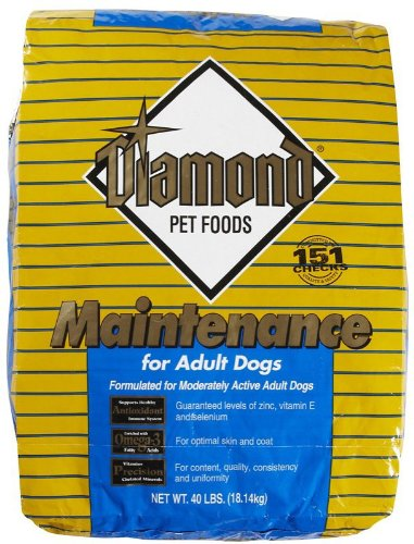 Diamond Dry Adult Dog Food, Maintenance Chicken Flavor, 40-Pound Bag