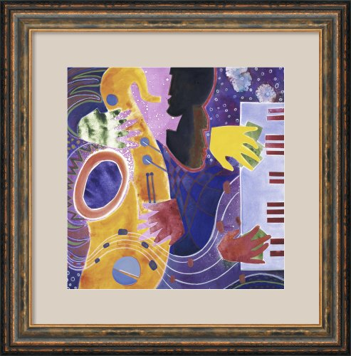 Piano Iii (With Horn) 1995 By Gil Mayers Framed
