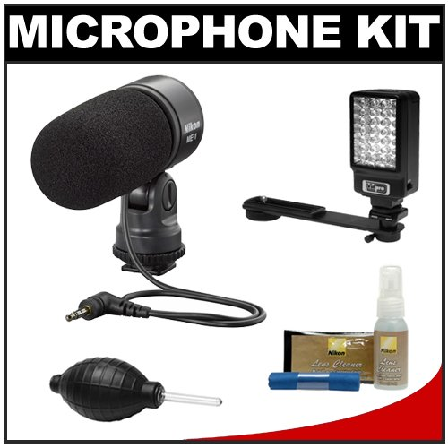 516lhQjiAVL Nikon 27045 ME 1 Stereo Microphone Supplied with Wind Screen and Soft Case