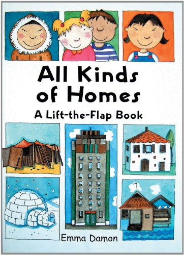 All kinds of homes a lift the flap book libri for All types of houses pictures