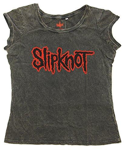 Slipknot - Top - T-shirt  - Collo a U  - Donna grigio X-Small