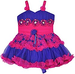 Be BeBo Girl's Cotton Dress (901_2, Pink, 2 Year )