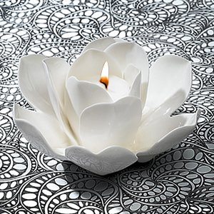 Ceramic Rose Tea Light Holder