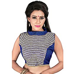 Araja Fashion Blue Color Hand Work with Diamond Work Readymade Designer Saree Blouse