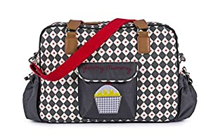 Pink Lining Yummy Mummy Baby Changing Nappy Bag - Diamonds & Hearts from Pink Lining