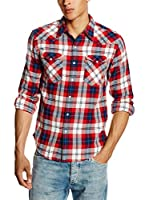 Levi's Camisa Hombre Casual (Azul / Rojo)
