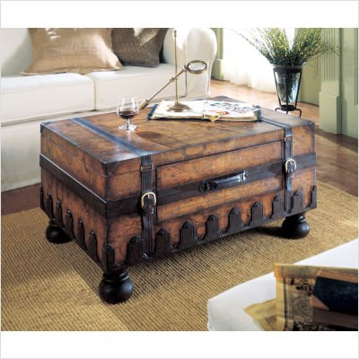 Butler Specialty Heritage Rectangular Wood Trunk Cocktail Table