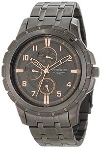 Armitron Men's 20/4833TRDG Rosegold-Tone Accented Gunmetal Tone Multi-Function Watch