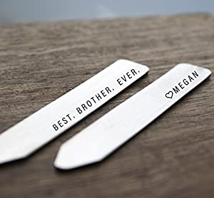 Brother Gift Collar Stays Best Brother Ever Collar Stays Personalized Brother Gift Personalized Gift For Brother Father's Day Christmas