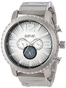 August+Steiner August Steiner Men's AS8067SS Multi-Function Gradient Dial Quartz Bracelet Watch